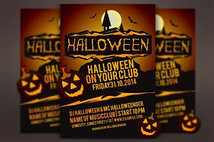 Halloween Party Vector Flyer