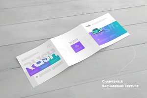Square Trifold Brochure Mock-Ups