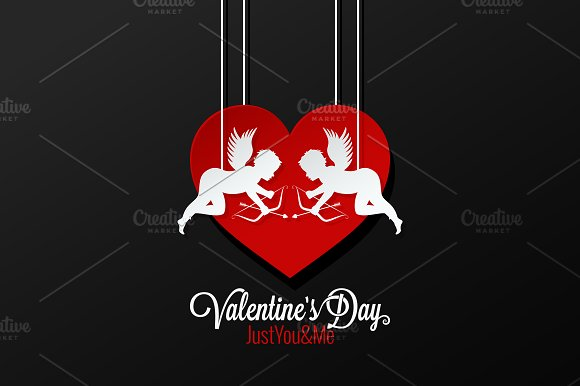 Valentines Day Couple On Heart