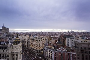 Madrid Spain Skyline