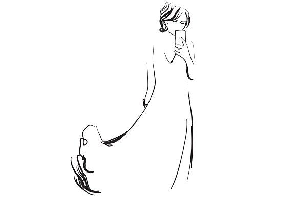 Girl In The Dress Illustration