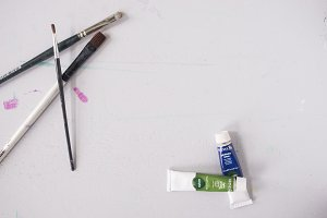 Small Paints and Brushes