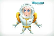 Astronaut in spacesuit. Vector icon