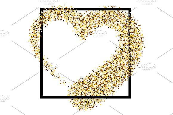 5 golden & silver Valentine's hearts in Illustrations - product preview 1