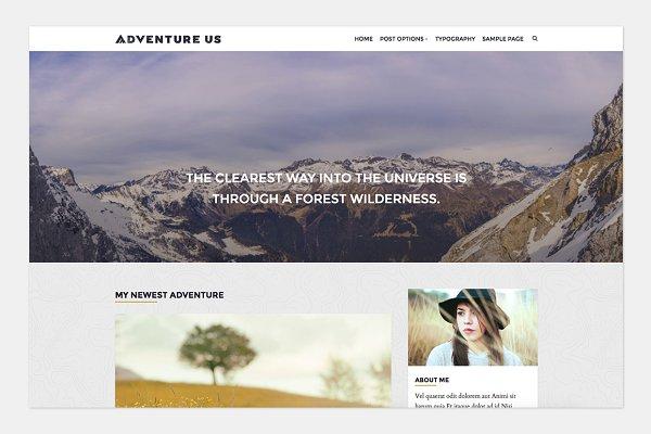 Adventure Us - Travel Blog Theme