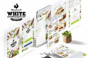 Premium White IOS Restaurant App ui
