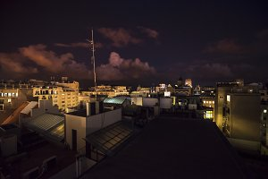 Barcelona Spain Rooftops at Night