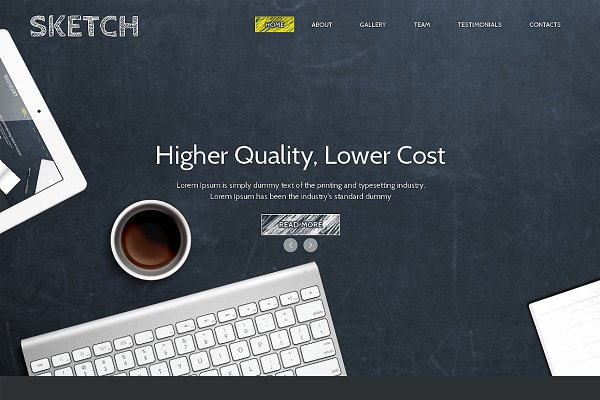 Landing Page Templates: IceTemplates - Sketch Responsive One Page Theme