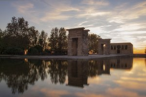 Temple of Debod at sunset