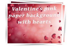 St. Valentine's pink paper card