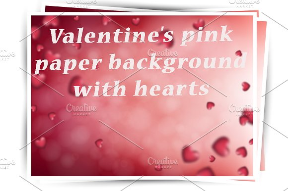 St Valentine's Pink Paper Card