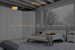 Modern Responsive One Page Theme