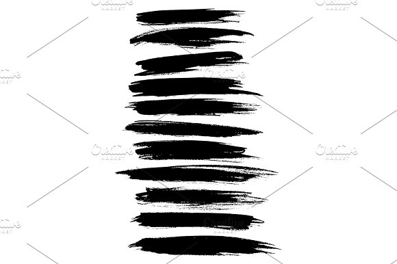 Vector Strokes Lines Paint Dab Stripes Vector Set