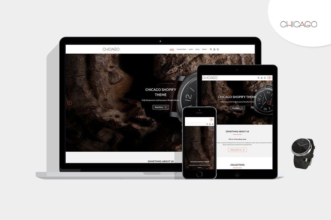 Chicago Shopify Theme by HulkThemes ~ Website Templates