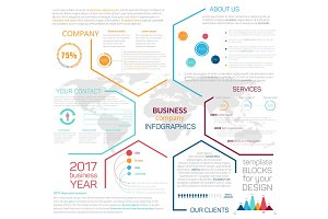 Business site landing page or vector infographics
