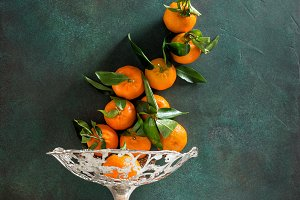 Tangerine fruits. Orange mandarine