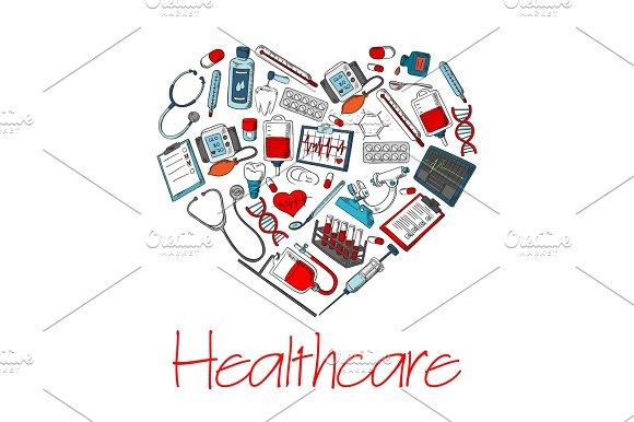 Healthcare Medical Heart Vector Poster