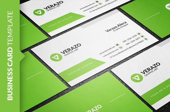 Clean Fresh Business Card Template