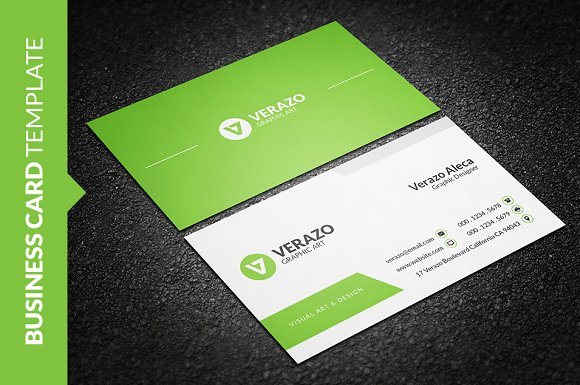 Clean fresh business card template business card templates clean fresh business card template business card templates creative market reheart Images