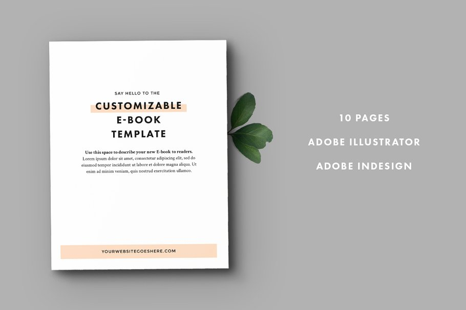 Ebook Template Templates Creative Market