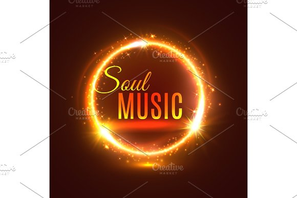 Soul Music Vector Poster With Light Shine