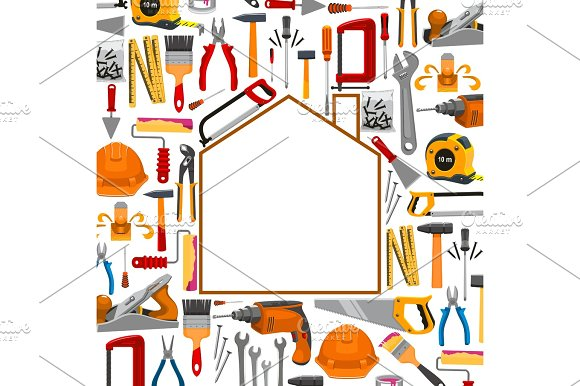 Building And Repair Work Tools Poster