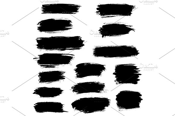 Paint Brush Marker Highlighter Vector Strokes