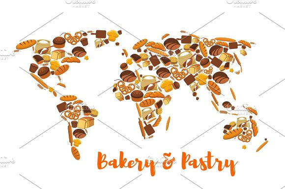 Bakery And Pastry World Map Of Bread