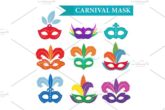 Masquerade Mask Set