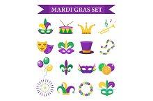 Mardi Gras carnival set