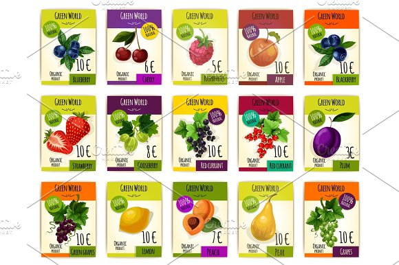 Fruit Cards With Price For Farm Market