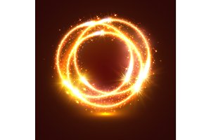 Light flashes and sparkler lights circles