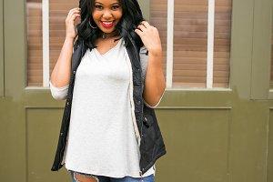 Girl Wearing Stylish Vest