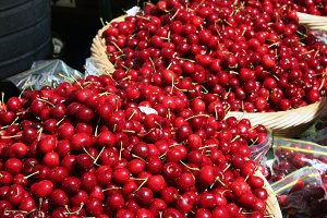 Cherries at Farmers Market