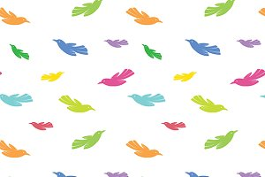 Bird vector art background design.