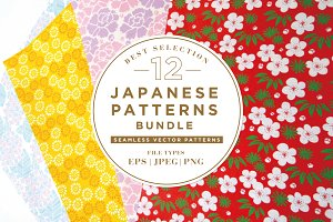 12 BEST JAPANESE PATTERNS BUNDLE