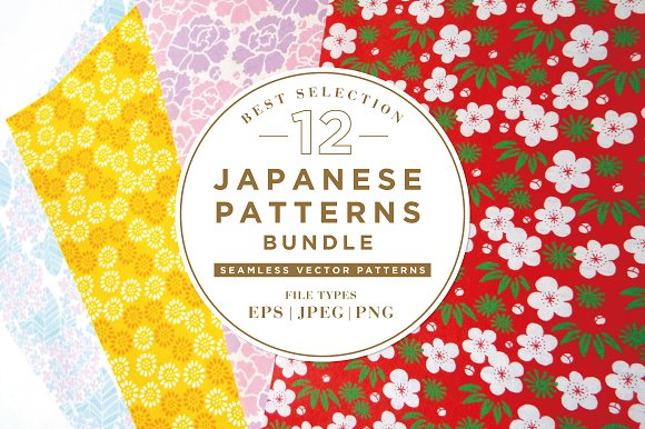 12 BEST JAPANESE PATTERNS BUNDLE