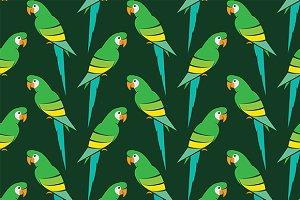 Parrot vector art background design.