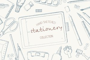 Hand sketched stationery collection.