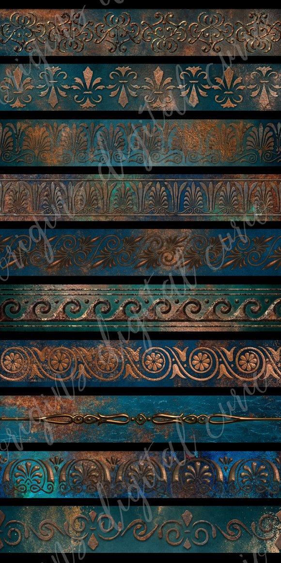 Patina Borders Clipart