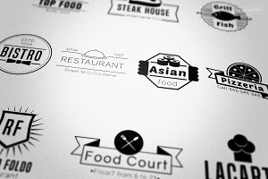 Restaurant Food Badges Logos