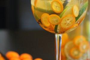 Kumquat Sangria Glass