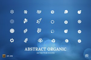 Abstract Organic - 24 vector icons
