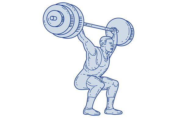 Weightlifter Lifting Barbell