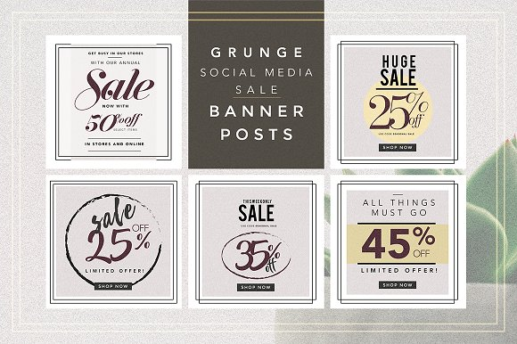 GRUNGE Social Media Sale Pack