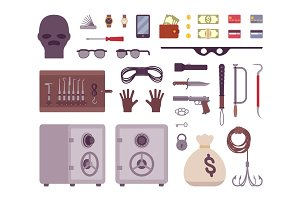 Set of thief tools