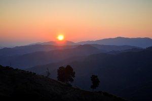 Sunrise on mountain