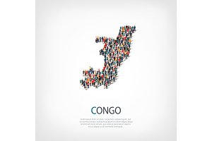 people map country Republic of the Congo vector