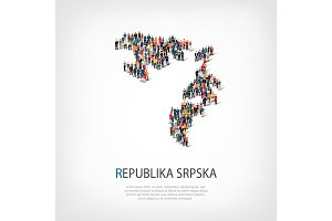 people map country Republika Srpska vector
