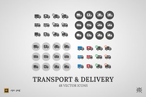 Transport&Delivery - 48 vector icons